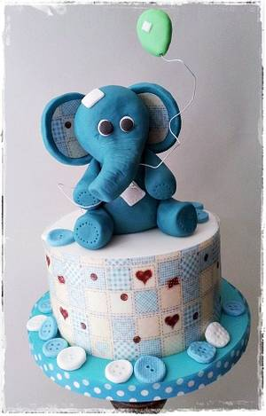 Eddie the Elephant  - Cake by Time for Tiffin