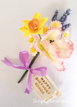 Sweet spring blooms - Cake by SimplyScrumptious
