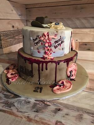 21st birthday Walking Dead cake - Cake by Liz