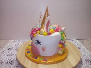 unicorn birthdaycake - Cake by Aurelia'sTartArt