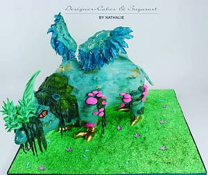 Fantasy-Rhino - Sugar Myths and Fantasies - Cake by Designer-Cakes & Sugarart by Nathalie