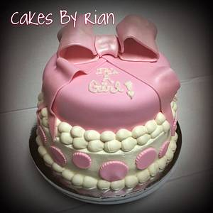 Baby Shower Girl Cake - Cake by Cakes By Rian