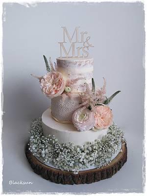 Wedding cake in cream - Cake by Zuzana Kmecova