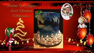 #Fondant Cake Topper Sweet Christmas Collaboration  - Cake by Bella s taartjes