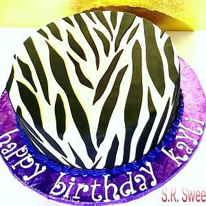 Zebra - Cake by SRsweets