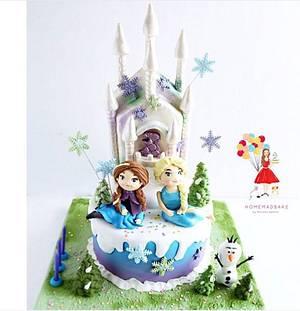 Frozen Cake - Cake by Bakeagogo by Marsella Agatha