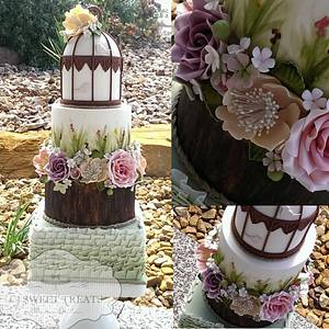 Spring Wedding cake for Aust Cake Dec Championships - Cake by cjsweettreats