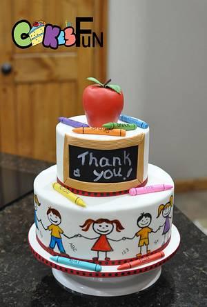 Teacher appreciation - Cake by Cakes For Fun
