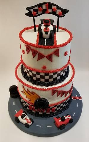 Race car 1st birthday cake - Cake by eiciedoesitcakes