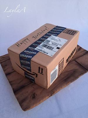 Amazon package box - Cake by Layla A
