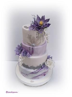 Marbled wedding cake - Cake by Zuzana Kmecova
