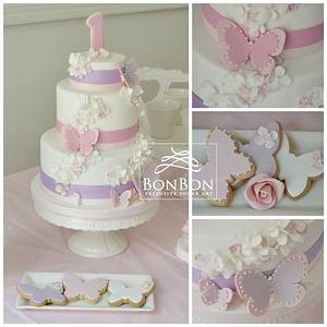 butterfly cake - Cake by bonbonsugarart