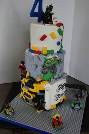 Lego Super Hero Cake - Cake by Margie