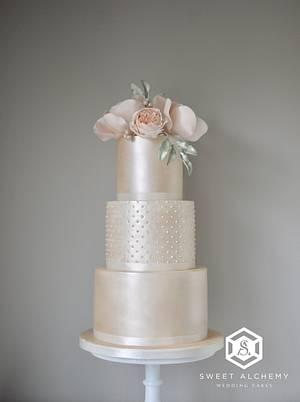 Modern Anniversary Cake - Cake by Sweet Alchemy Wedding Cakes