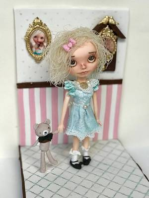 My Blythe Doll Figurine - Cake by Caking with love
