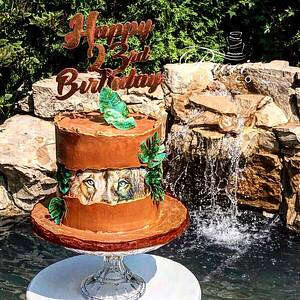 Fault Line Lion Cake - Cake by Pucci Cakes Co
