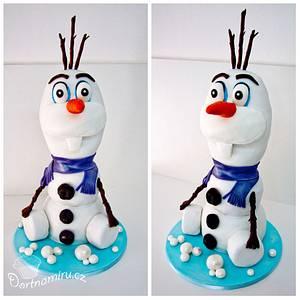 Olaf cake - Cake by Lucie Černá