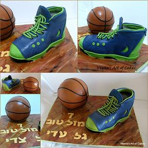 Basket Ball and Sports Shoe Cake  - Cake by Veenas Art of Cakes