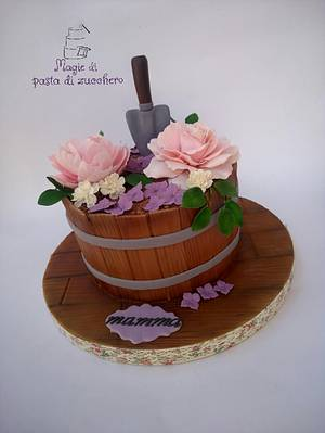 Flower cake  - Cake by Mariana Frascella