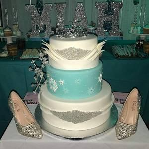 Winter Wonderland Sweet 16 - Cake by Nicole Verdina