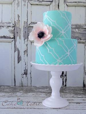 blush and blue - Cake by Cake Heart