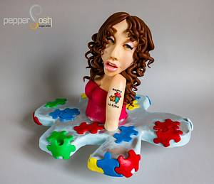One Piece At A Time @ Sugar Art for Autism 2017 - Cake by Pepper Posh - Carla Rodrigues