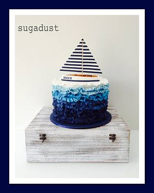 Wooden toy Sailboat cake - Cake by Mary @ SugaDust