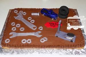 Mechanic Cookie Cake - Cake by Sugar Sweet Cakes