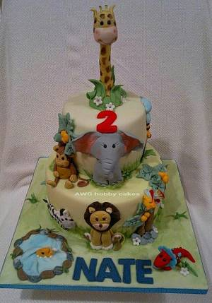 Animals for Nate - Cake by AWG Hobby Cakes