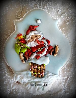 Little Santa waiting for the right time to jump in..... - Cake by The Cookie Lab  by Marta Torres