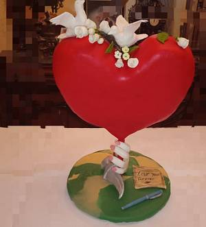 Valentine heart cake - Cake by Nodycakes