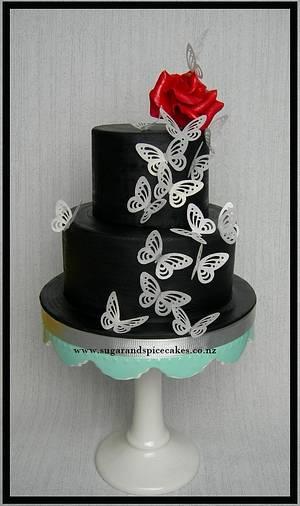 Paper Butterflies  - Cake by Mel_SugarandSpiceCakes