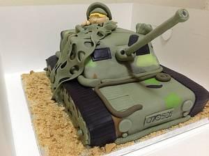 8th Birthday Army Tank Cake - Cake by MariaStubbs