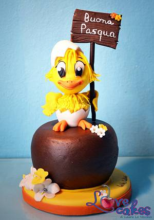 The chick of Easter, Il pulcino di Pasqua - Cake by Laura Lo Vecchio