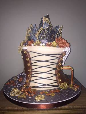Feathered steampunk - Cake by BakersDreamCakes