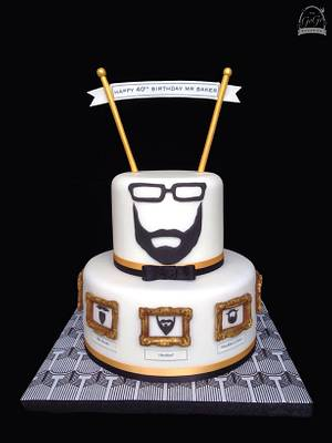 Beard-themed party cake! - Cake by Natasha Thomas