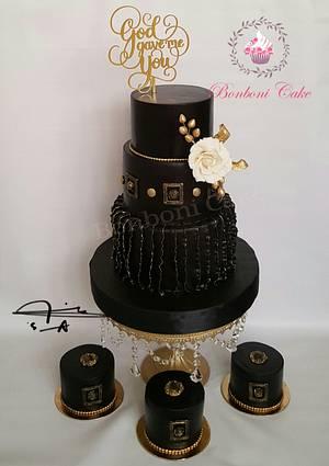 Black and gold - Cake by mona ghobara/Bonboni Cake