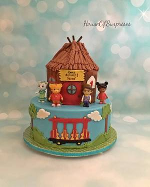 Daniel tiger and friends  - Cake by Shikha