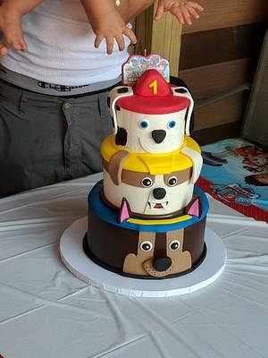 Paw Patrol 1st Birthday  - Cake by Nicole Verdina