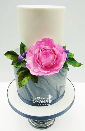 Peony Cake  - Cake by The Rosehip Bakery