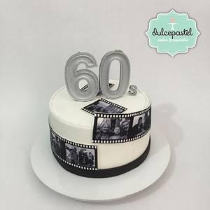 Torta Tira de Película - Film Strip cake - Cake by Dulcepastel.com