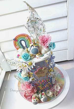 Unicorn Pig Heaven - Cake by Dozycakes