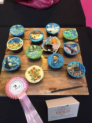 Impressionist Art Cupcakes - CI'17 - Cake by The Cake Lady