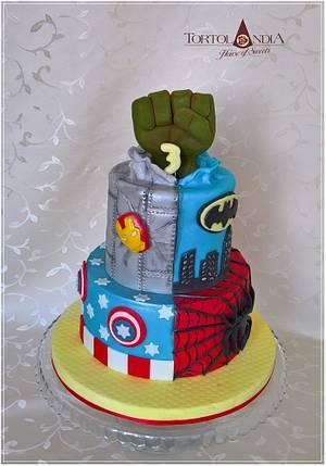 Avengers cake - Cake by Tortolandia