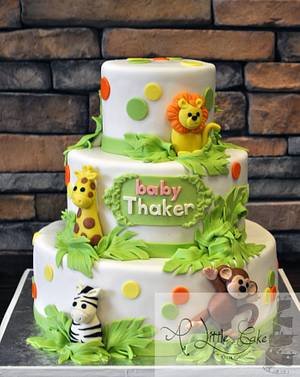 Jungle Themed Baby Shower Cake - Cake by Leo Sciancalepore