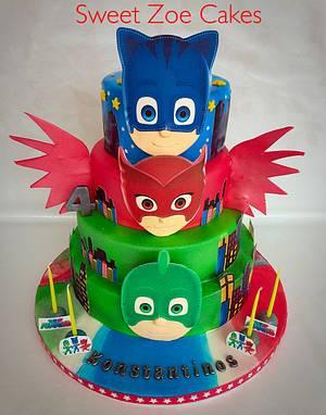 PJmasks Cake - Cake by Dimitra Mylona - Sweet Zoe Cakes