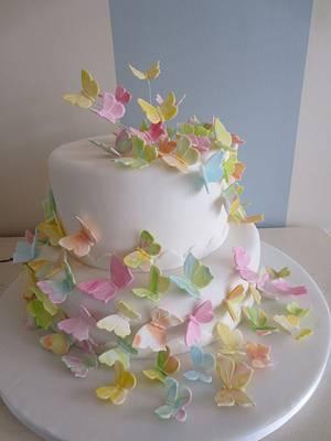 Butterflies cake - Cake by SweetMamaMilano