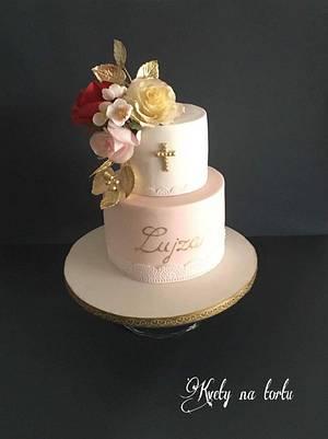 confirmation cake  - Cake by Kvety na tortu