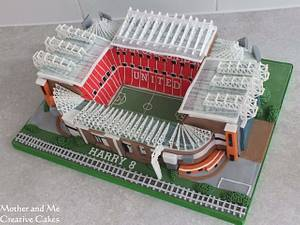 Old Trafford Stadium  - Cake by Mother and Me Creative Cakes