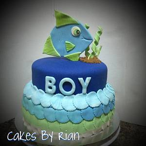 Fish Baby Shower - Cake by Cakes By Rian